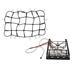 1/10 RC Metal Roof Rack W/ Rubber Luggage Net For 1:10 RC Cr