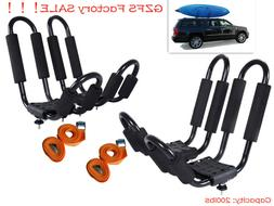 2 Pairs Canoe Boat Kayak Roof Rack Car SUV Truck Top Mount C