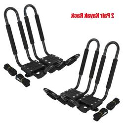TCMT 2 Pairs Kayak Carrier Rack Boat Ski Surf Roof Mount Car
