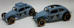 Hot Wheels 2 Variation Lt Blue VW Custom Beetle Roof Rack, O