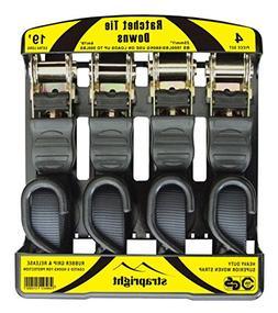 Strapright 4 Ratchet Tie Down Straps 20Ft   Adjustable Locki
