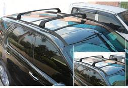 4PCS Black Roof Rack + Cross bar For Land Rover New Discover