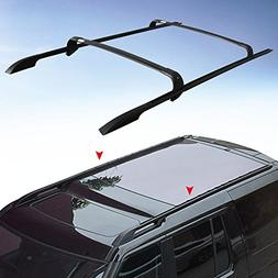 4PCS Roof Rack Rail + Cross Bar for Land Rover Discovery LR4
