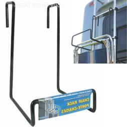 Camco Heavy Duty Chair Rack- Hook on RV Ladder to Support Fo
