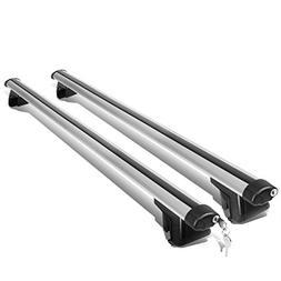 "52"" Adjustable Pair of Aluminum Top Cross Bar Cargo Roof Rac"