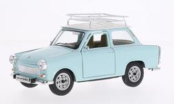 Trabant 601 S Deluxe with roof rack, light blue/white, Model