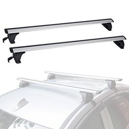 ALAVENTE Universal Roof Rack Cross Bar Set with Lock Adjusta