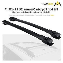 AUXMART Roof Rack Cross Bars for 2011–2017 Toyota Sienna