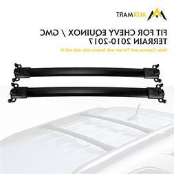 AUXMART Roof Rack Crossbar Kit for Chevy Equinox GMC Terrain