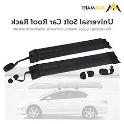 AUXMART Soft Roof Rack 2Pcs Cross Bar Kayak Car Soft Roof Ra