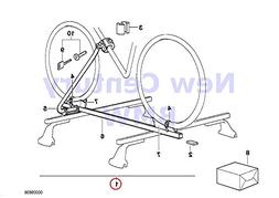 BMW Genuine Roof Rack Systems Touring Bicycle Holder Touring