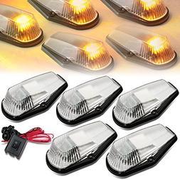 DNA Motoring CBL-F15080-CH-Y LED Cab Roof Top Marker Lights