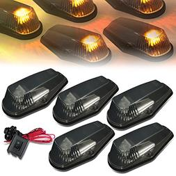 DNA Motoring CBL-F15080-SM-Y LED Cab Roof Top Marker Lights
