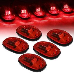 For Dodge Ram 1500-5500 5 X Red Lens LED Cab Roof Top Marker