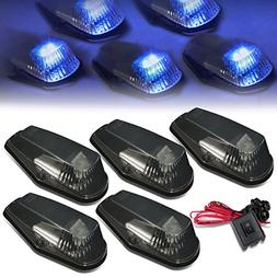 For Ford F150-F450 5 X LED Cab Roof Top Lights + Wiring + Sw