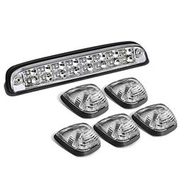 For Ford Super Duty 5PCS Black Housing White LED Cab Roof To