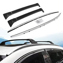 Black Lockable Roof Rack Crossbars Cross Bar Fit for Hyundai Santa Fe 2019 Baggage Luggage Rail