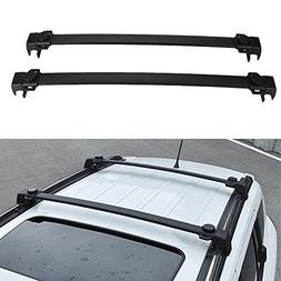 MotorFansClub Black Roof Rack Cross Bars Luggage Cargo Carri