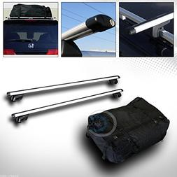 R/&L Racing 49 BLK SQUARE TYPE ROOF RAIL RACK CROSS BAR KIT+WATERPROOF CARGO CARRIER BAG C1