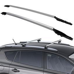 OE Style Aluminum Black by IKON MOTORSPORTS Roof Rack Cross Bars Fits 2011-2017 Toyota Sienna