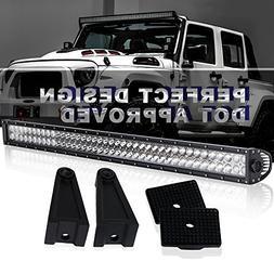 TURBOSII 42 inch LED Light Bar 240W Spot Flood Combo Beam On