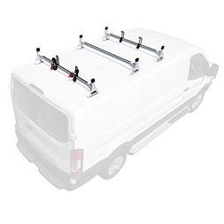 2015-On 3 bar Rack Low Profile 54 Bars Steel Black Cargo Ford Transit