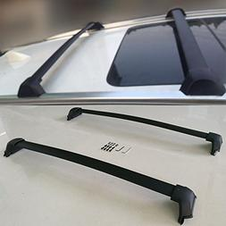 VIOJI 1 Pair Black Aluminum Mount Onto the Rooftop Roof Rack