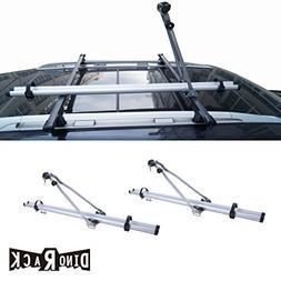 VIOJI 2pcs Grey Aircraft Aluminum Roof Bicycle Racks With Lo