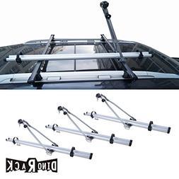 VIOJI 3pcs Grey Aircraft Aluminum Roof Bicycle Racks With Lo