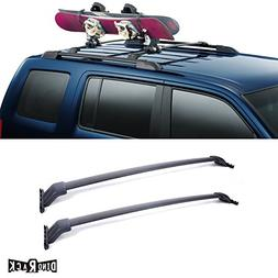 VIOJI 2pcs Black Aircraft Aluminum Aftermarket Roof Rack Cro