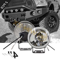 "WIN-2X New 2pcs 4"" Round 4X4 Off-Road Chrome Aluminum Housin"