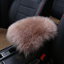 WYQ Car SUV Real Sheepskin Armrest Console Seat Comfortable