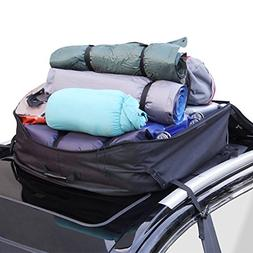 YOULERBU Roof Cargo Carrier 16 Cubic Feet Car Top Carrier wi