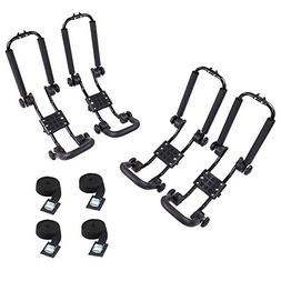 AA Products 2 Pair Steel Double Folding J-Bar Rack for Kayak