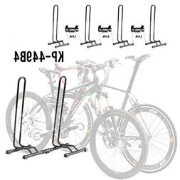 CyclingDeal Adjustable 4 Bike Floor Parking Rack Storage Sta