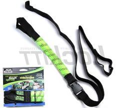 "ROK Strap Adjustable Motorcycle Stretch 18""-60"" 2-Pk - Lime"