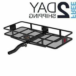 basket trailer hitch cargo carrier 500 lbs