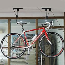 Bike Bicycle Lift Ceiling Mounted Hoist Garage Storage Hange