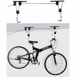 Bike Bicycle Lift Ceiling Mounted Hoist Storage Garage Hange