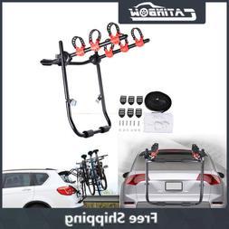 Black 3 Bike Bicycle Carrier Rack Trunk-Mount Hatchback SUV