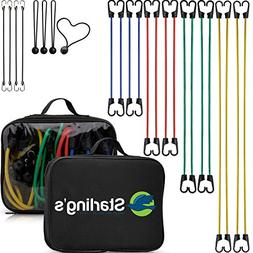Bungee Cord Tie Down Straps Assortment  W/Carrying Case by S