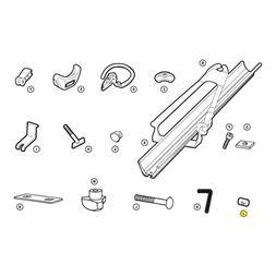 Thule Car Rack Replacement Barrel Nut M6x18MM - 8530446