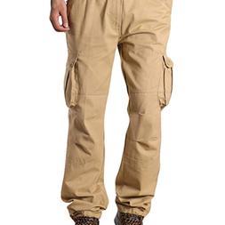 iOPQO Casual Pants for Men, Overalls Pocket Sports Work Casu