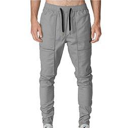 iOPQO Casual Pants for Men, Pocket Overalls Sports Work Casu