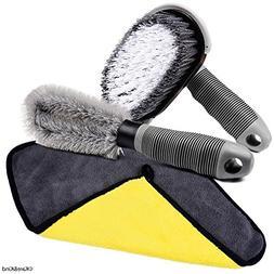 Cleaning Set for Car/Van/Truck/Camper - Nylon Brush for Flat