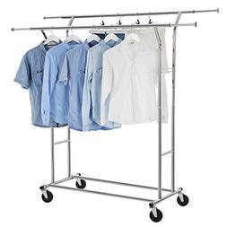 SONGMICS Commercial Grade Double Rail Garment Clothing Rack