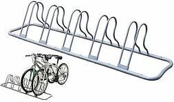 DecoBros 5 Bike Bicycle Floor Parking Adjustable Rack Storag