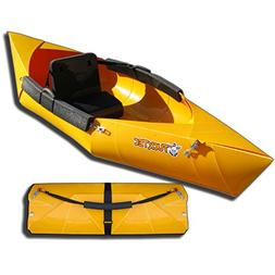 Tucktec Foldable Kayak Yellow Collapsible Canoe, Portable Li