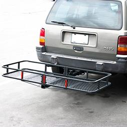 ARKSEN Cargo Carrier Hitch Mount with Cargo Net Folding Lugg