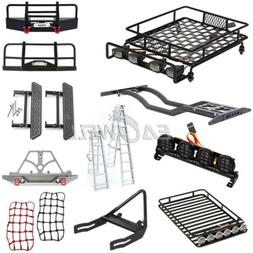 Front Bumper Roof Luggage Rack Net Ladder For 1/10 Trx-4 Axi